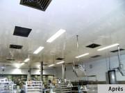 Dalle de plafond suspendu alimentaire HACCP laboratoire - Polyester épaisseur: 2,8 mm - M1 - isolée ou non