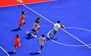 Dalle plastique pour terrain de basketball - Dimensions d'une dalle : 33 x 33 cm