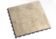 Dalle PVC décoratif - Dim. : 47.2 x 47.2 x 6.5 cm - Imprimé pierre naturel