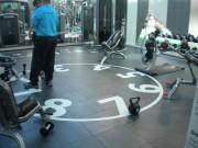 Dalle sol salle musculation - Robuste rapide réparable