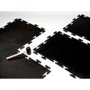 Dalle sol sportif en caoutchouc - En caoutchouc - Dimensions : 610 x 610 mm