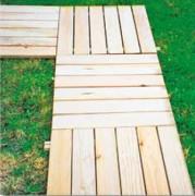 Dalles caillebotis en bois - Dimensions (L x l) : 0.60 x 0.60 - 1 x 1 m