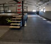 Dalles Caoutchouc 43 mm pour salles de fitness - Conditionnement : A la dalle - Épaisseur et dureté : 43 mm Shore A