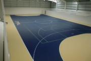 Dalles pour terrains sportifs en intérieur - Dimensions : 250 x 250 x 11 mm - Livré en grandes dalles pré-emboîtées de 1 m² (16 dalles)