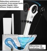 Déboucheur autonome à haut pression pour WC évier douche - Se recharge en seulement 20 secondes