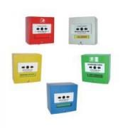 Déclencheurs manuels d'alarme incendie - Au choix: 1 contact – 2 contacts – Étanche – Capot – LED – Radio