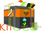 Déconditionneur biodéchets automatique - Avec broyeur déchiqueteur et lève conteneur de série