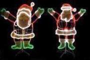 Décors à motif en cordon lumineux Led - CODE AN02 - Père Noël animé 2