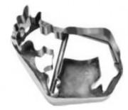 Découpoir en acier blanc - Dimension : 4,5 x 3,3 ou 2,7 x 2,7 cm