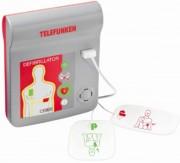 Défibrillateur semi-automatique externe - Comprend 7 accessoires - Vous appuyez pour déclenchez le choc.