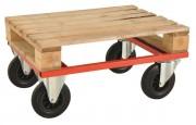 Demi chariot porte palettes - Capacité : 800 Kg - Pour palettes 1200x800 ou 800x600 mm