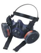 Demi masque de sécurité avec valve - Système de filtre à cliquet - Valve expiratoire en face de la bouche