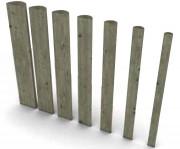 Demi rondin en bois autoclavé - Longueur (m) : 2 à 4 ou Au ml