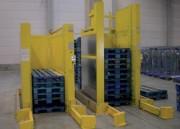 Dépileur empileur hydraulique de palettes - Capacité : 15,20,25 ou 30 palettes  -  Cadence : 1 cycle en 10 secondes