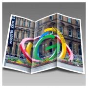 Dépliant publicitaire - Vingt formats standards - Impression: quadrichromie recto/verso