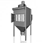 Dépoussiéreur centralisé de plusieurs postes - Débit d'aspiration max.: 9 .700 m³/h