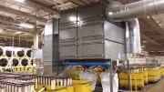 Dépoussiéreur industriel à poches - Aspiration de particules en suspension