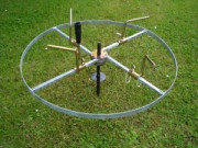 Dérouleur professionnel à bras fixe - Diamètre int min pour rouleaux : 24 cm / 25 cm - Diamètre hors tout : 81 cm