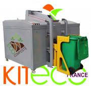 Déshydrateur de déchets 200 kg/jour - A ce jour, nous sommes les seuls en France à proposer des digesteurs composteurs (déshydrateurs)a partir de 15 kg/jour équipés de broyeur de série