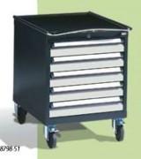 Desserte d'atelier amovible - Nombre de tiroirs : 5 - Charge totale : 400 kg