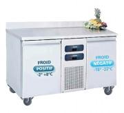Desserte réfrigérée à 2 portes - 2 portes - Froid positif +2° +8°C - Froid négatif -18° -22°C