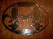 Dessous de plat fer forgé - Dimensions (Lxl) : 37.5 x 26.5 cm