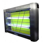 Destructeur insectes industriel 80 m² - Couverture : 80 m² - Puissance : 2 x 15 W