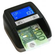 Détecteur automatique de billets contrefaçon - Ecran LCD - Puissance : 5 W - Dimensions : (L x l x H) : 143 x 128 x 75 mm