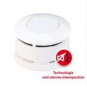 Détecteur de fumée haute technologie - Alimentation: 2 piles AAA  -  Garantie: 5 ans
