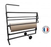 Dévidoir pour rouleaux de papiers ou emballages - Longueur 1420 mm  -  Largeur 400 mm   -  Hauteur 1165 mm