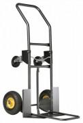 Diable chariot à pelle rabattable - Charge utile (Kg) : 200 - Pelle fixe / rabattable - 2 roues gonflées /2 directionnelles