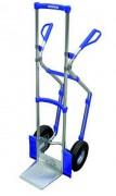 Diable de manutention en aluminium avec poignées de sécurité à garde - Capacité de charge : 150 kg