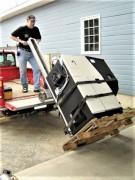 Diable électrique monte-escalier pour chaudière - Capacité : 100 kg à 680 kg.