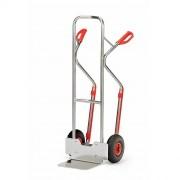 Diable en aluminium à tablier cintré - Capacité par plateau : 150 kg - 200 kg