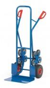 Diable escalier en acier - Capacité de charge : 200 kg - (2x3 roues) et (2x5 roues)