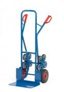 Diable escalier en acier à 2 poignées de sécurité - Charge utile (kg) : 200