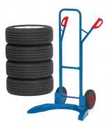 Diable porte-pneus - Charge (Kg) : 120