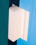 Dispositif anti claque porte - Couleur blanc - Avec mousse incompressible