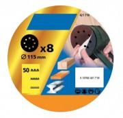 Disque papier auto agrippant perforés - Diamètre (mm) : 115 - 125 - 150