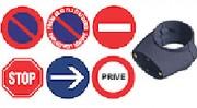 Disques signalétiques - Diamètre : 300 mm - En PVC