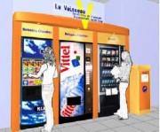 Distributeur automatique de boissons - Recup dechets independant