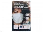 Distributeur automatique de masques et gants et gels hydroalcooliques - Protection contre le COVID19