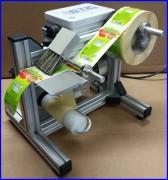 Distributeur d'étiquettes adhésives semi-automatique - Largeur d'étiquette : De 10 à 100 mm