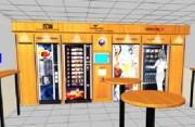 Distributeur de boissons cage micro onde - Distributeur hauteur custom