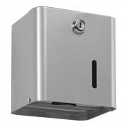 Distributeur de papier hygiénique 2 paquets - Capacité : 2 paquets / 1 rouleau - Acier