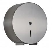 Distributeur de papier hygiénique 400 m inox - Dimensions : ø 290  x 118 mm