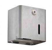 Distributeur de papier hygiénique Inox - Inox brossé - Capacité : 2 paquets / 1 rouleau