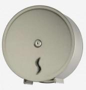 Distributeur de papier WC en inox brossé - Dimension L x H x P : 31 x 13 x 32 cm - Couleur : Inox