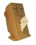 Distributeur mouchoirs cartonné - Dimensions monté : h 32 x 21 x 19 cm