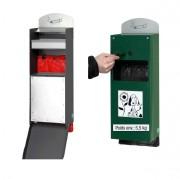 Distributeur sacs déjections avec cendrier - Fabrication en tôle d'acier galvanisé.